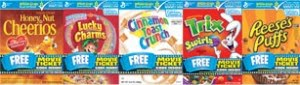 General Mills Movie Ticket Promo