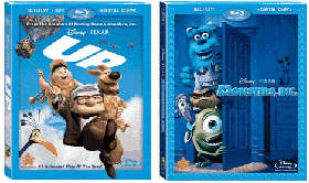 UP and Monster's Inc. on Blu-Ray