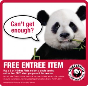 picture about Panda Express Printable Coupons titled Panda Convey: Purchase One particular Purchase Just one No cost Printable Coupon